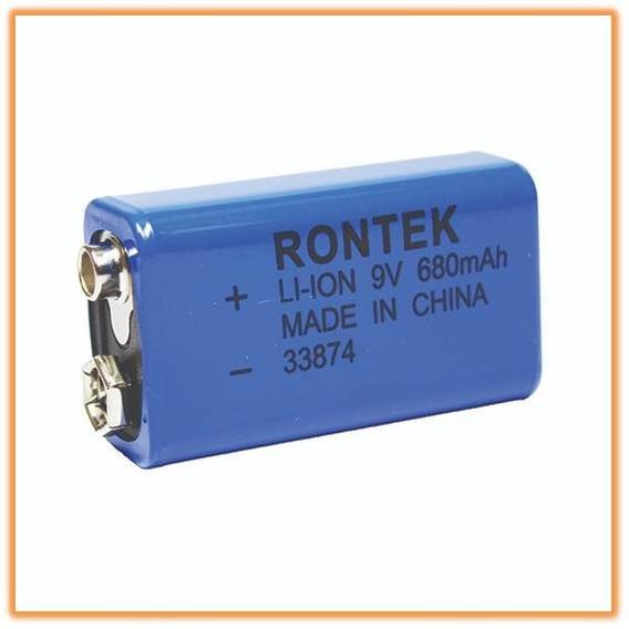 Bateria Lítio Recarregável 9v 680ma Rontek 33874