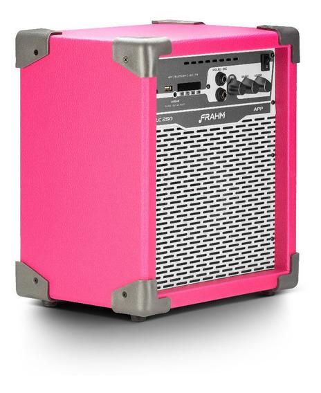 Caixa D Som Amplificada Multiuso Frahm Pink Lc-250 App