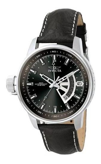 Relógio Masculino Preto De Couro Invicta 6515 Original