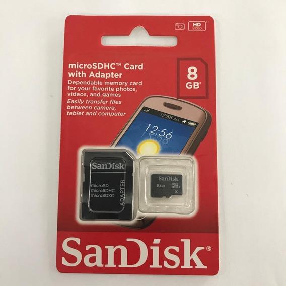 Kit Com 10 Cartão De Memória De 8gb Sandisk