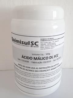 Ácido Málico Puríssimo 500g