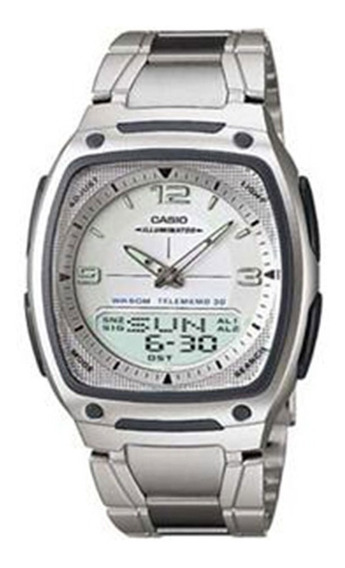 Relógio Masculino Anadigi Casio Standard Aw-81d-7avdf - Inox