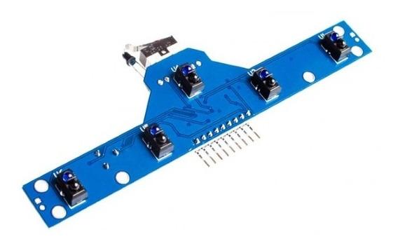 Módulo Sensor Ir 5 Canais Para Robô Seguidor De Linha C Nota