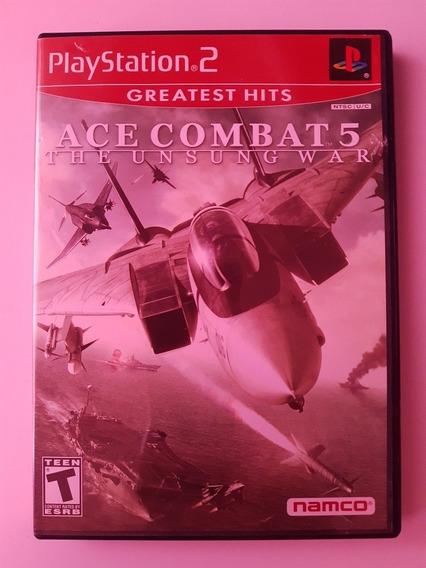 Play 2: Ace Combat 5 Americano Completo! Raríssimo! Jogão!