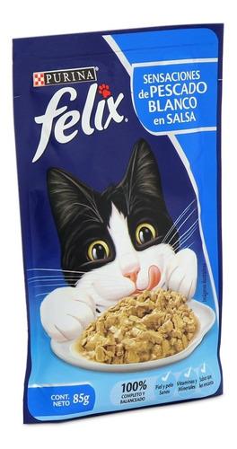 Felix Sensaciones De Pescado Blanco En Salsa 85gr (pcx10un)