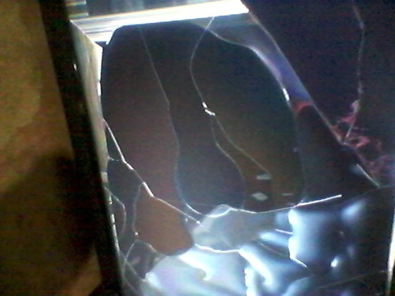 Tv LG Smart 49um7300psa Com Defeito Tela Quebrada