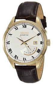 Relógio Seiko Kinetic Masculino Neoclassic Branco/marrom