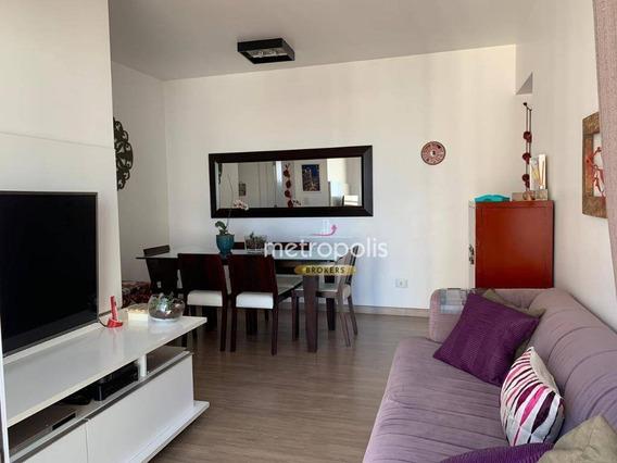 Apartamento Com 2 Dormitórios À Venda, 62 M² Por R$ 440.000,00 - Santo Antônio - São Caetano Do Sul/sp - Ap2642