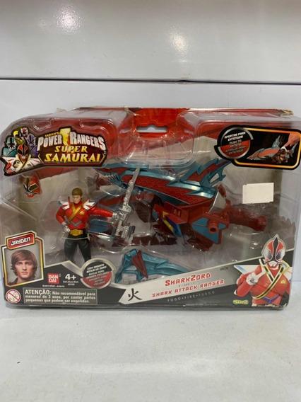 Boneco Power Rangers Super Samurai Sharkzord E Shark Ranger