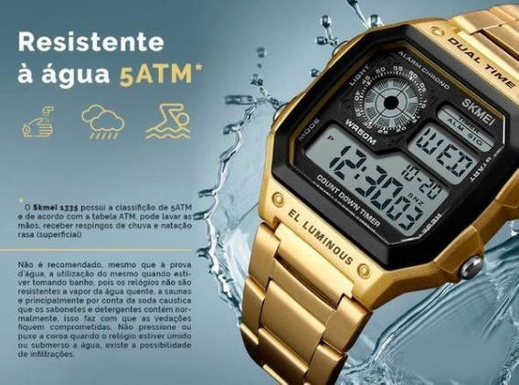 Relogio Skmei 1335 Original Prova D´dgua Dual Time
