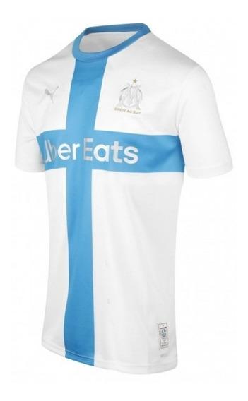 Camisa Do Olympique De Marselhe Original - Branca Linda