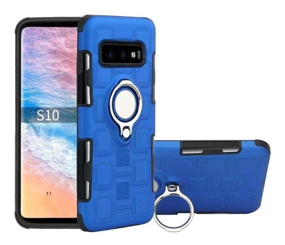 Funda Samsung S10 S10 Plus S10 Lite Con Anillo Soporte Magné