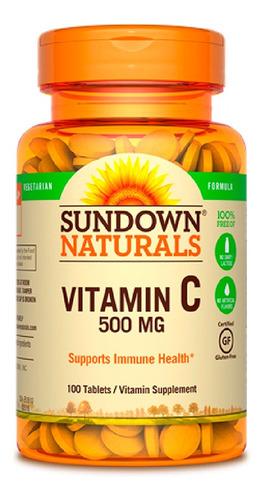 Vitamina C Sundown Naturals 100 Capsulas   Xenex  