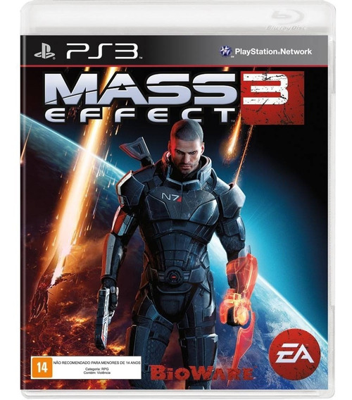 Jogo Mass Effect 3 Ps3 Mídia Física, Novo E Lacrado