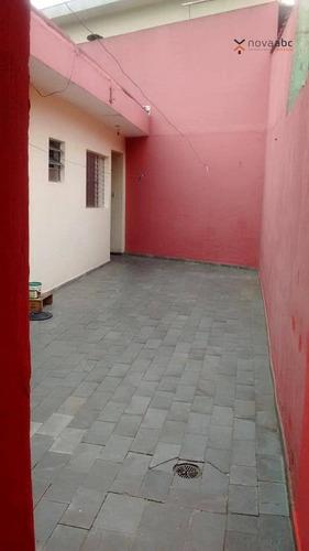 Casa Térrea Com 3 Dormitórios Para Alugar, 105 M² Por R$ 1.600/mês - Condomínio Maracanã - Santo André/sp - Ca0270