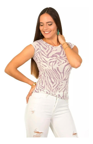 Franela Basica Zebra Morada Saints Clothes