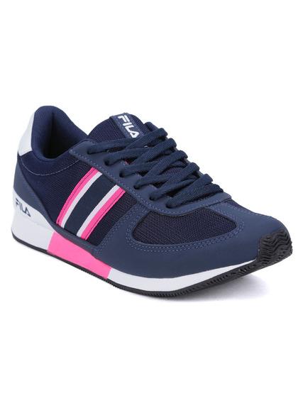 Tênis Esportivo Feminino Fila Azul Marinho/rosa