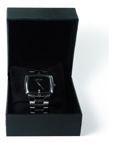 Caixa De Relógio De Couro Ecológico - 1 Relógio