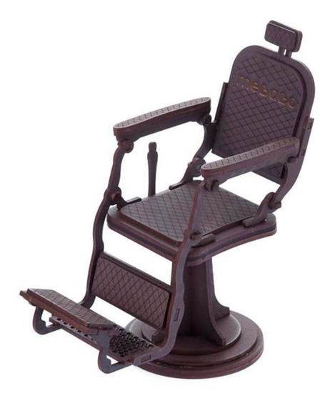 Cadeira De Barbeiro Decorativa Em Mdf Porta Cartão Visita