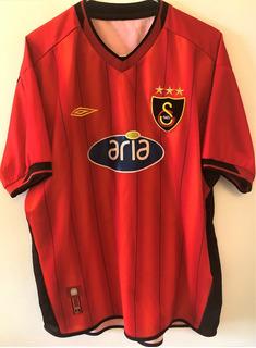 Camisa Galatasaray 2003/04 Hakan Sukur #10 Uniforme 3 Rara