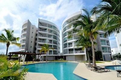 Torres Hutzilin El Table. Bonito Departamento Amueblado En Renta Con Vista Panorámica 2 Recámaras. Cancún, Quintana Roo