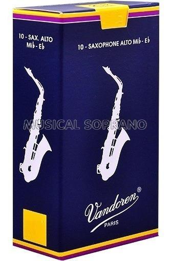 Palhetas Vandoren Tradicional P/ Sax Alto (com 10) - Nº 2