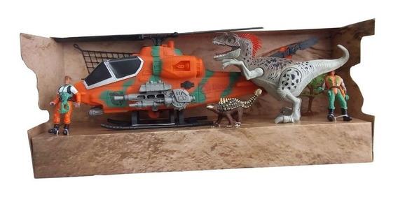 Conjunto Mundo Perdido Dos Dinossauros Veiculo E Dinos Model