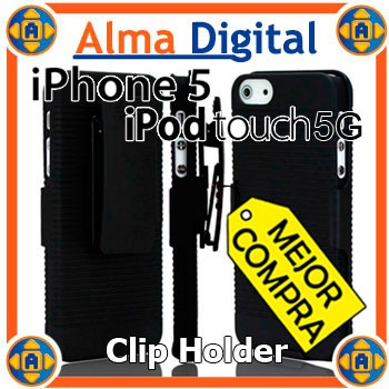 Holster Con Clip iPhone 5 5s Touch 5 Funda Forro Protector