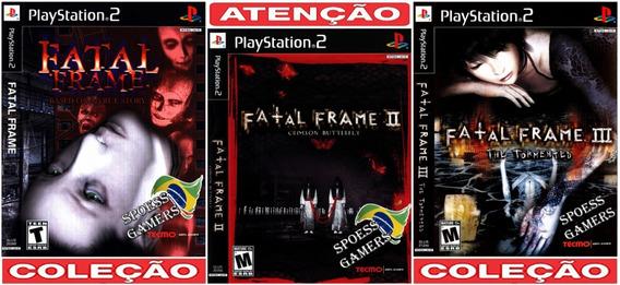 Fatal Frame Ps2 Coleção (3 Dvds) Patch Me