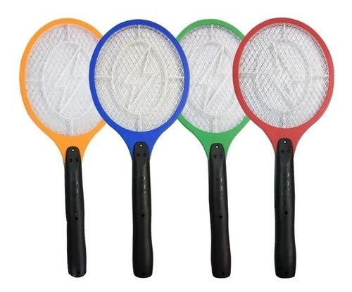 Raquete Elétrica Mata Mosca Recarregável Mosquitos -  3 Uni