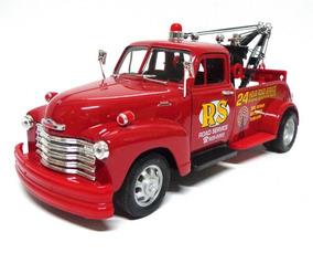 Miniatura Chevrolet 3100 Tow Truck 1953 1:24 Welly Vermelho