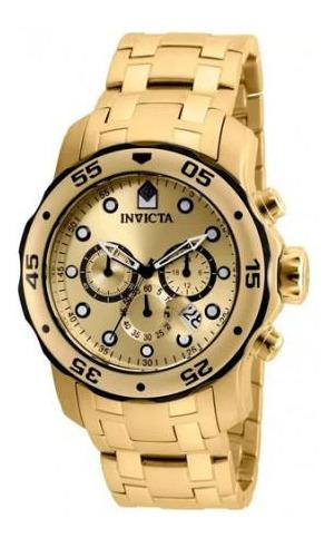 Relógio Invicta 80070 Masculino Banhado Ouro 18k Original