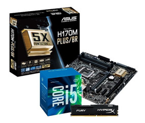 Kit Intel Core I5 7400 Asus H170m Plus Hyper X 8gb Fury I