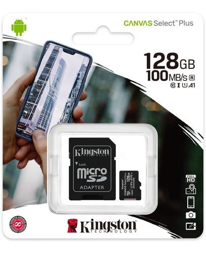 Memoria Microsd 128gb Kingston Clase 10 Original 100mb/s