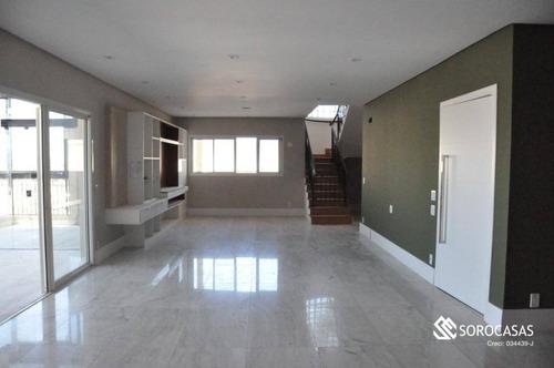 Cobertura Com 4 Suítes, 437 M² - Venda Por R$ 4.200.000 Ou Aluguel Por R$ 15.000/mês - Edifício Único Campolim - Sorocaba/sp - Co0007