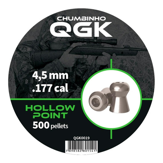 Chumbinho Qgk Hollow Point 4,5mm 500 Unidades