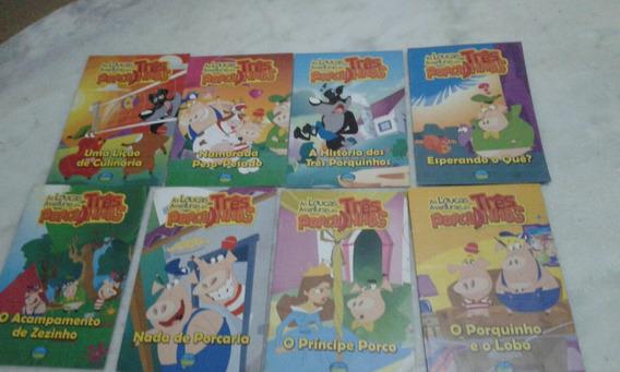 Lote Com 8 Livros Infantis As Loucas Aventuras Dos Três Porq