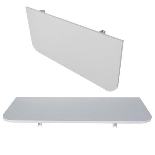 Mesa Dobrável Parede Cozinha Mdf 100x40 Braços Aluminio