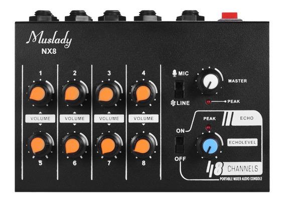 Muslady Nx8 Ultra-compacto 8 Canais De Som Estéreo De Áudio