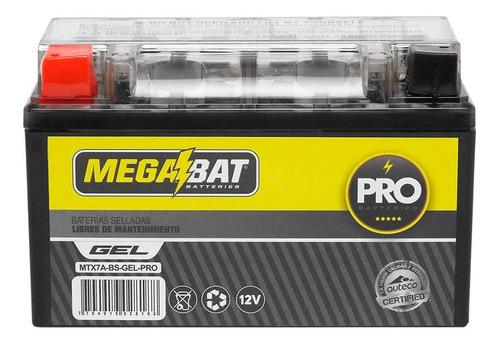 Imagen 1 de 2 de Batería Moto Megabat Mtx7a Gel Kymco Agility 125
