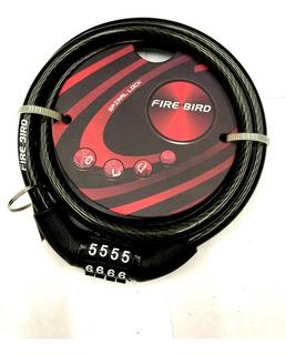 Linga Candado D/segurid,c/codigo Fire Bird 0,8x1000mm-works