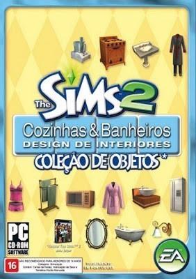 Jogo Pc The Sims 2 Cozinhas E Banheiros Coleção De Objetos
