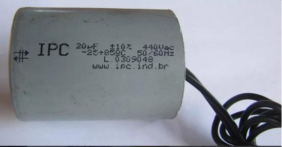 Capacitor Partida 20uf 440vac P/ Diversos Motores Ipc