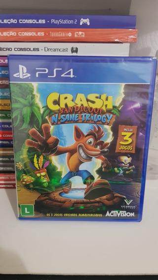 Jogo Crash Badicoot N Sane Trilogy Ps4 Midia Fisica