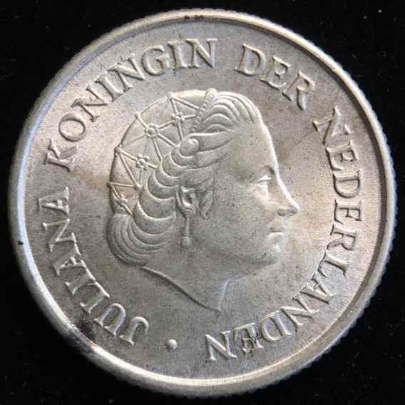 Antillas Holandesas, 1/4 Gulden, 1967. Plata. Sin Circular