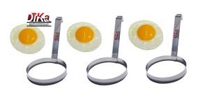 Modelador De Ovos Redondo Aço Inox Profissional Kit Com 3