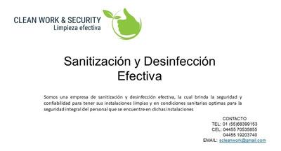 Sanitización, Desinfección Y Limpieza