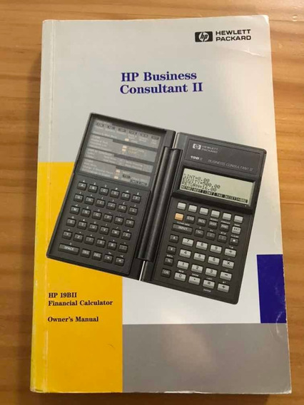 Manual Calculadora Financeira Hp-19bii