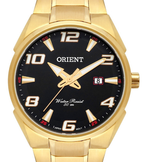 Relógio Orient Masculino Dourado Original Mgss1160 P2kx