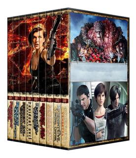 Resident Evil Saga Completa Dvd 9 Peliculas Latino Coleccion